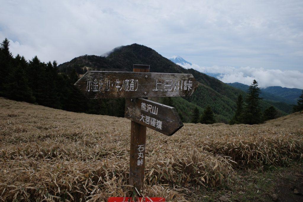 石丸峠の分岐